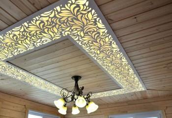 Подсветка способна сделать потолочную конструкцию удивительно красивой
