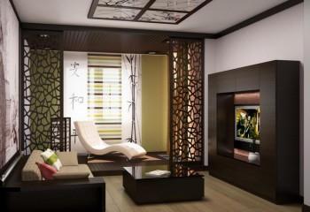 Декоративный встроенный светильник с веточкой сакуры поддерживает общий стиль