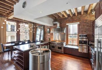 Эффективное зонирование пространства при помощи конструкции потолка