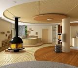 Натяжные тканевые потолки, как элемент современного интерьера