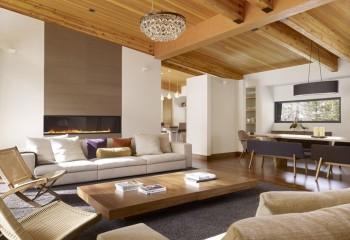Дизайн потолков деревянных подшивного типа
