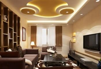 Гипсокартонно-натяжная конструкция со встроенным освещением