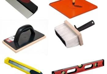 Основной набор инструментов штукатура
