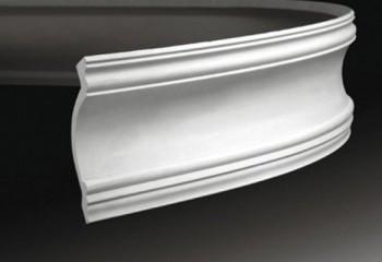 Гладкий плинтус для потолка гибкий шириной 158 мм