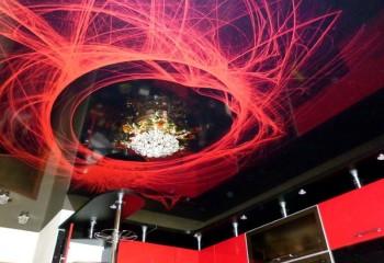Потолок с фотопечатью 3D