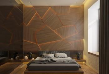 Мягкая светодиодная подсветка, расположенная в скрытой потолочной нише