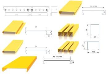 Различные конструкции планок