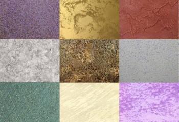 Различные варианты декоративной поверхности
