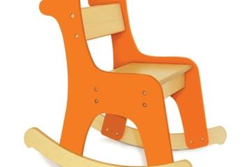 Стульчик-качалка «жираф» для желтого интерьера