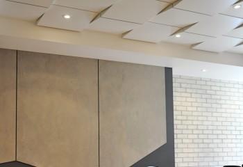 Объемный потолок от компании «Армстронг», фактического создателя кассетных систем