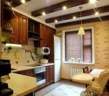 Потолок в маленькой кухне – лучшие материалы для отделки