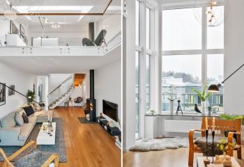 Квартира в двух уровнях с отделкой гипсокартоном