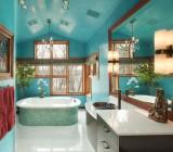 Отделка в ванной комнате потолка: выбор материала и отделочные работы