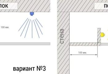 Внутрипотолочная подсветка лентой: варианты для натяжного или стеклянного потолка