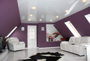 Простор, глянцевый потолок, уют
