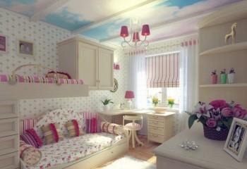Облака на потолке в детской