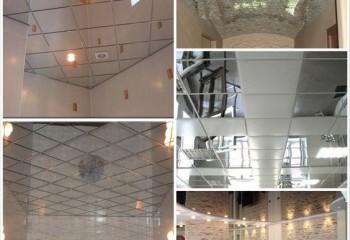 Разновидности зеркальных потолков