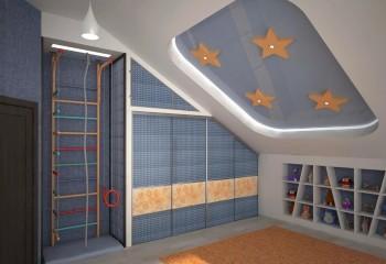 Комбинированный гипсокартонно-натяжной потолок