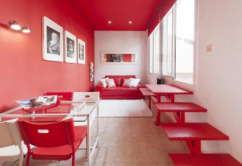 Авангардное решение: здесь главное – точное совпадение оттенка потолка со стеной и прочими аксессуарами