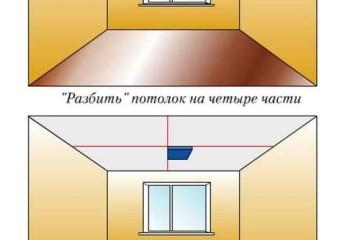 Схема на потолке