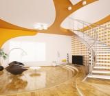 Комбинированные потолки в интерьере жилых помещений