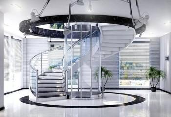 Высокотехнологичное оформление холла