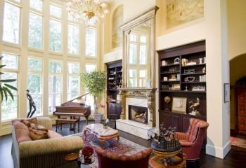 Английская гостиная в доме со вторым светом