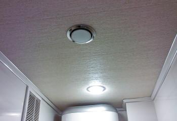Потолок в бойлерной
