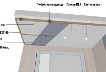 После просушки и нанесения пенетрирующей пропитки, на бетонном основании можно сделать вот такой потолок