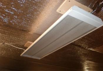 Теплоизоляция потолка под ИК-обогреватель
