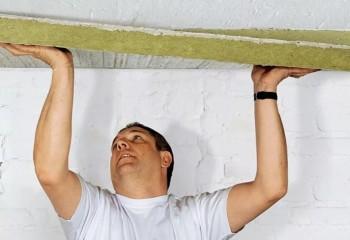 Утепление потолка в подвале минватой на клей