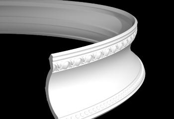 Потолочный плинтус гибкий шириной 129 мм
