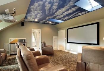 Плёнка с популярным принтом «облака» и оптоволоконной подсветкой