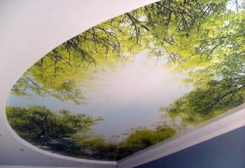 Потолок с пейзажем