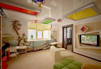 Комбинирование плёнок разного цвета в детской комнате