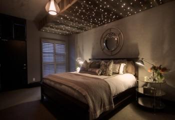 Подсветка натяжного потолка оптоволокном