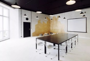 Конференц-комната, оформленная в стиле контемпорари