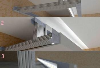 Конструкция каркаса для ниши с подсветкой