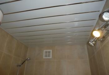 Для ванной комнаты пластиковое потолочное покрытие – идеальный вариант