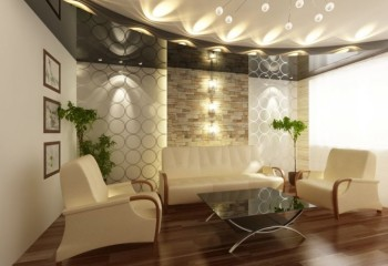 Яркий пример игры света на стенах и потолке