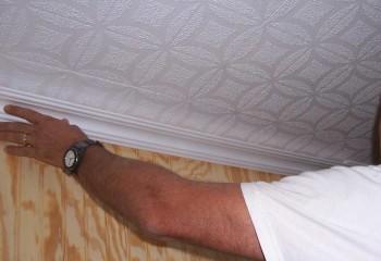 Применение декоративного молдинга придаст потолку завершенный внешний вид, и скроет место стыка панели и стены