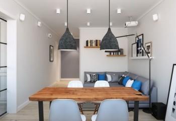Потолочные накладные светильники отлично комбинируются с другими видами освещения