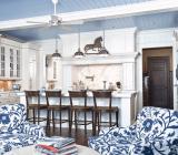 Голубой потолок в морской, тропической, современной стилистиках