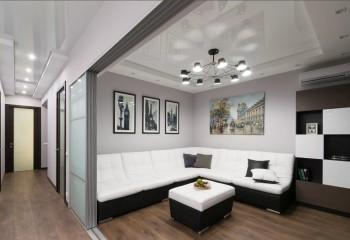 Натяжные потолки в квартире-студии