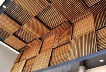 «Шашечки» из деревянных реек