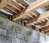 Деревянное перекрытие: виды балок и способы их монтажа