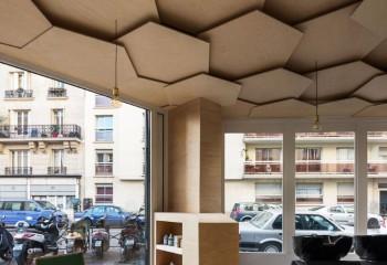 Модульный потолок из фанеры: дизайнерский вариант