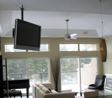 Потолочный кронштейн для телевизора – разновидности и монтаж конструкций разных типов