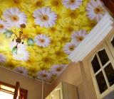 Натяжной потолок ситцевый – большие декоративные возможности