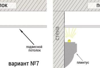 Разные по форме карнизы позволяют варьировать местоположение источника освещения